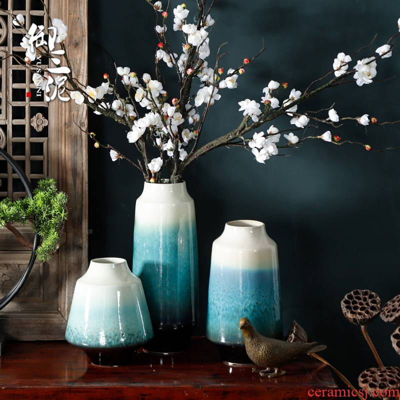 Home furnishing articles modern dry flower flower exchanger with the ceramics European contracted sitting room decorative furnishing articles Nordic vase arranging flowers