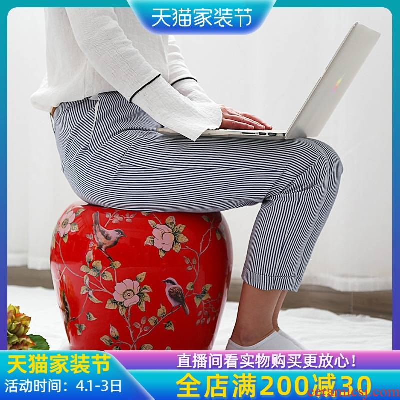 Jingdezhen ceramic stools furnishing articles drum who toilet who between example of new Chinese style decoration cool sitting room dining - room who