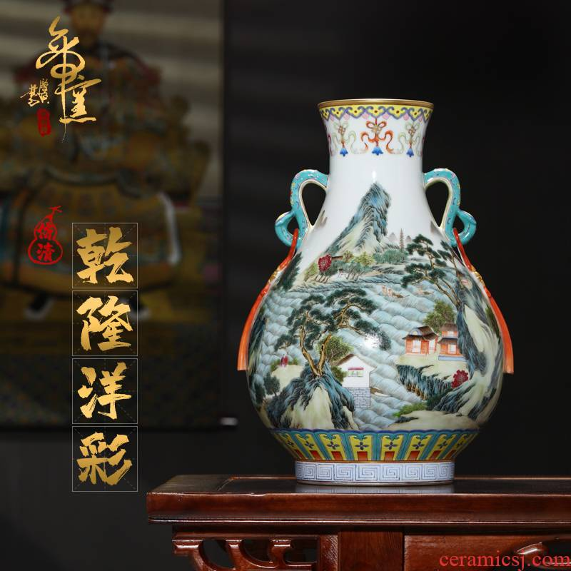 Emperor up seiko hand - made drive top service the color for ten thousand broke ruyi ear pipa statute of TV ark, ceramics vase furnishing articles
