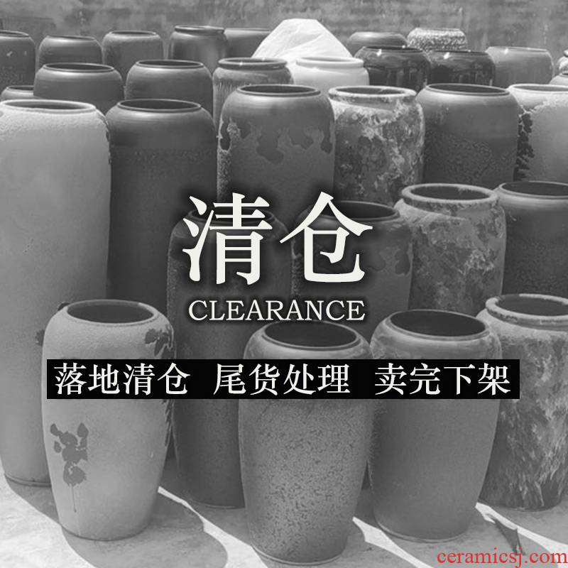 Jingdezhen ceramic floor large vase clearance retro flower arranging flowers home furnishing articles imitated old POTS