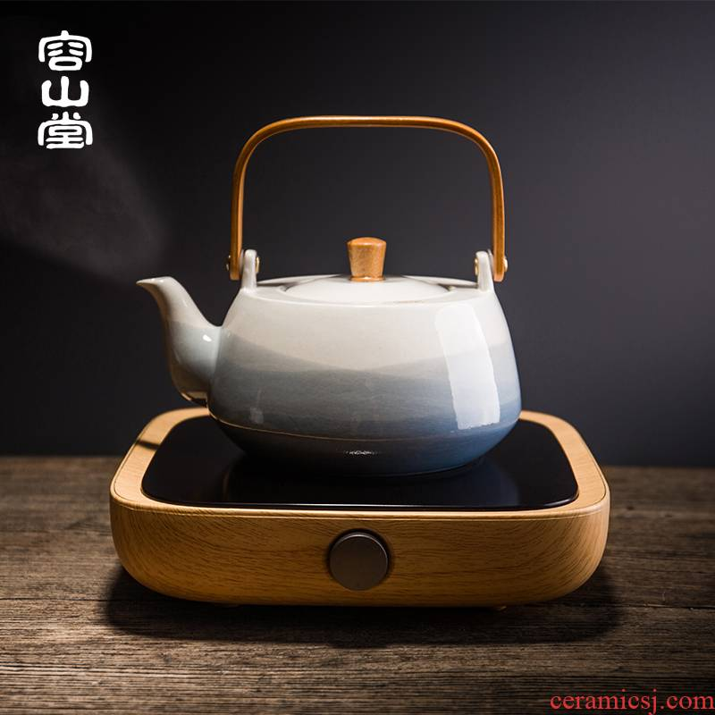 RongShan hall be precious little time three electric TaoLu boiled tea, the tea stove teapot ceramic kettle household kung fu tea set size