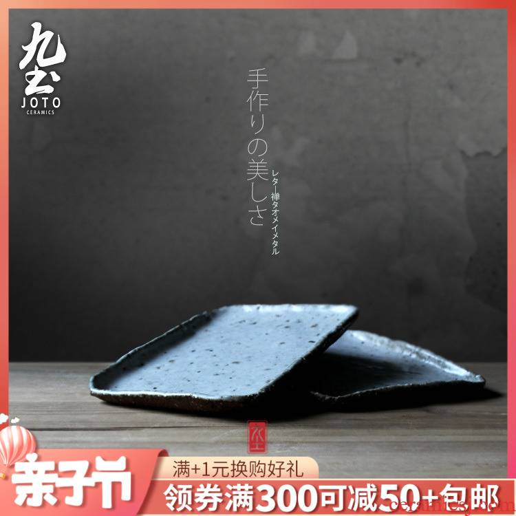 About Nine soil manual small coarse pottery kung fu tea tea tray was creative Japanese dry terms plate plate, single - layer saucer compote tableware