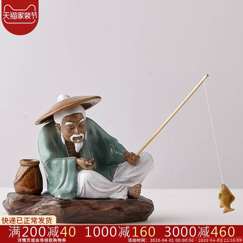 B2 character furnishing articles its porcelain jingdezhen ceramics handicraft Chinese wine sitting room adornment ornament gift