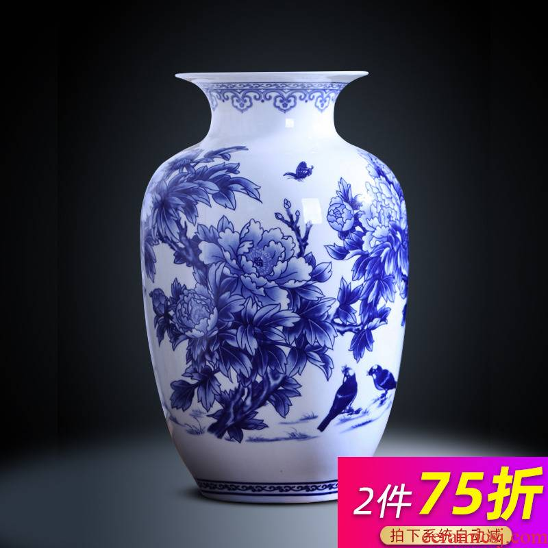 Creativity and exquisite ipads porcelain vase of blue and white porcelain of jingdezhen ceramics flower arrangement of I sitting room home furnishing articles