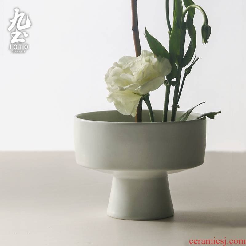 About Nine soil coarse pottery Japanese compote soup bowl dessert tray household ceramic tea floret furnishing articles by hand
