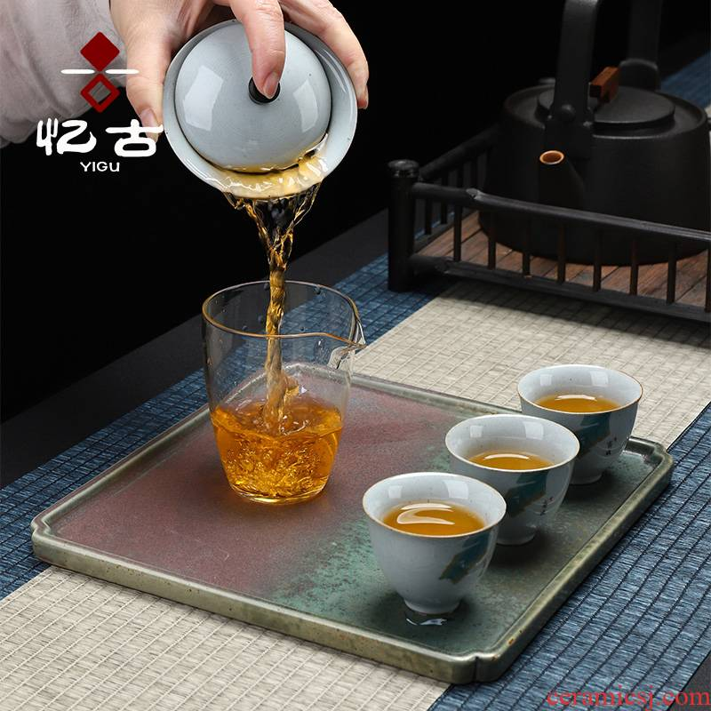 Have the ancient tea tray ceramic disk restore ancient ways small tea tray was dry mercifully tea sea Japanese visitor kung fu tea set contracted tray