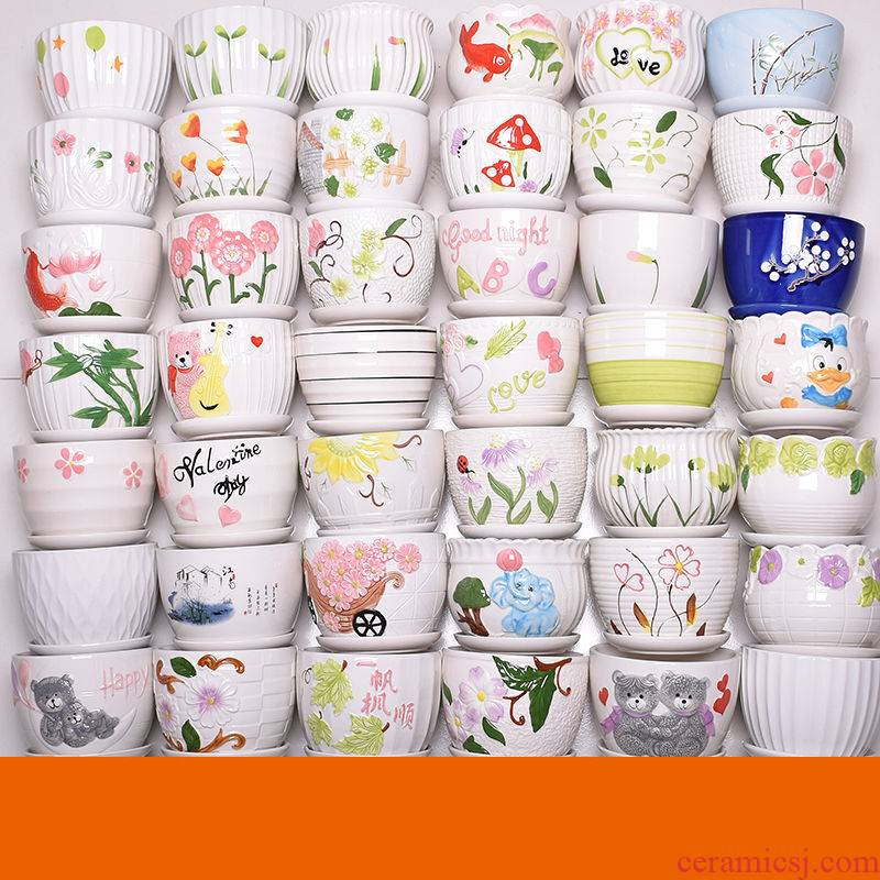 The Sale of large diameter creative contracted to restore ancient ways more meat plant coarse pottery flowerpot ceramic old running more flower pot in wholesale