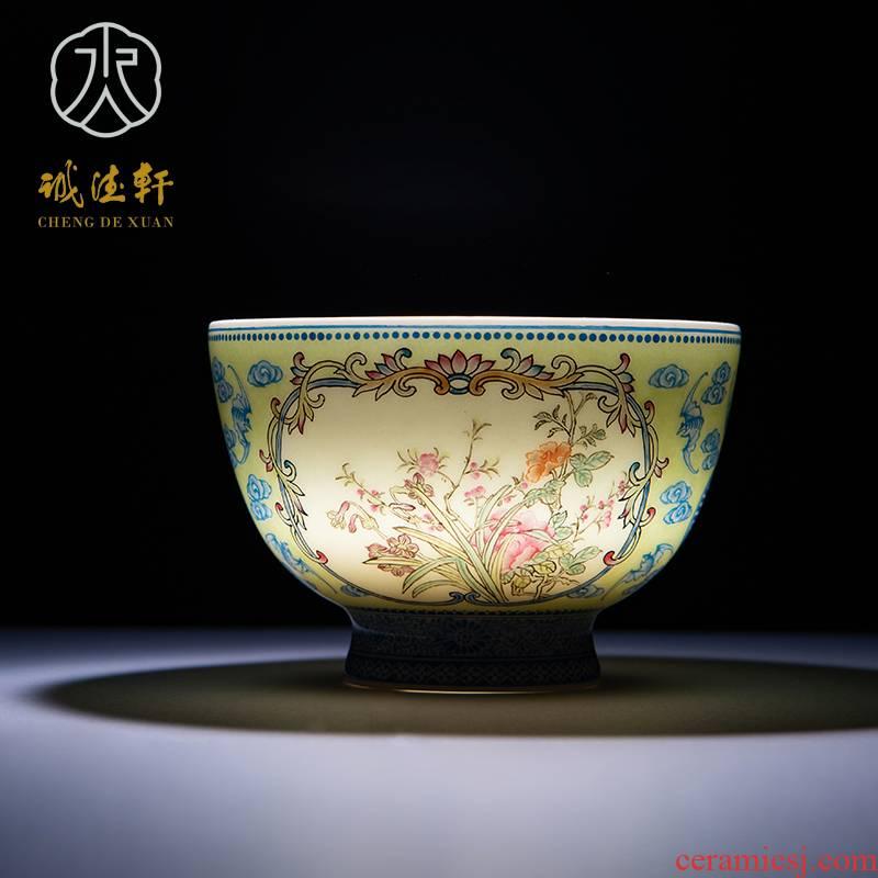Cheng DE hin boutique kung fu tea set, jingdezhen pure manual pastel single CPU spring, in 266