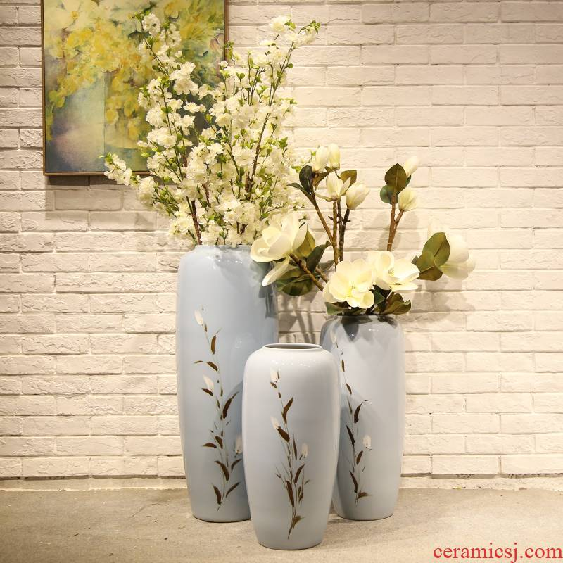 Jingdezhen ceramic vase landing by simulation of the new Chinese style flowers sitting room put a mall clothing store flower arranging flowers