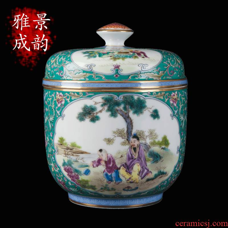 Jingdezhen ceramic checking sugar daddy figure vase furnishing articles household act the role ofing is tasted household arts and crafts porcelain sitting room