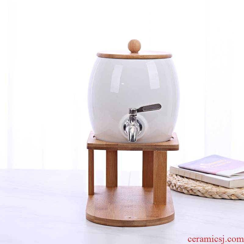 Nordic ceramic kettle suit restaurant cold ultimately responds juice pot of creative explosion to hold to high temperature cool home water kettle