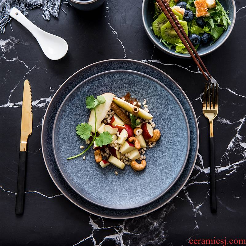 Lototo Nordic ceramic tableware, creativity and the bowl bowl with western food dish tray dish contracted cup