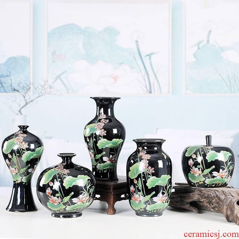 Jingdezhen ceramic floret bottle furnishing articles creative decoration modern flower home sitting room arts and crafts porcelain furnishing articles
