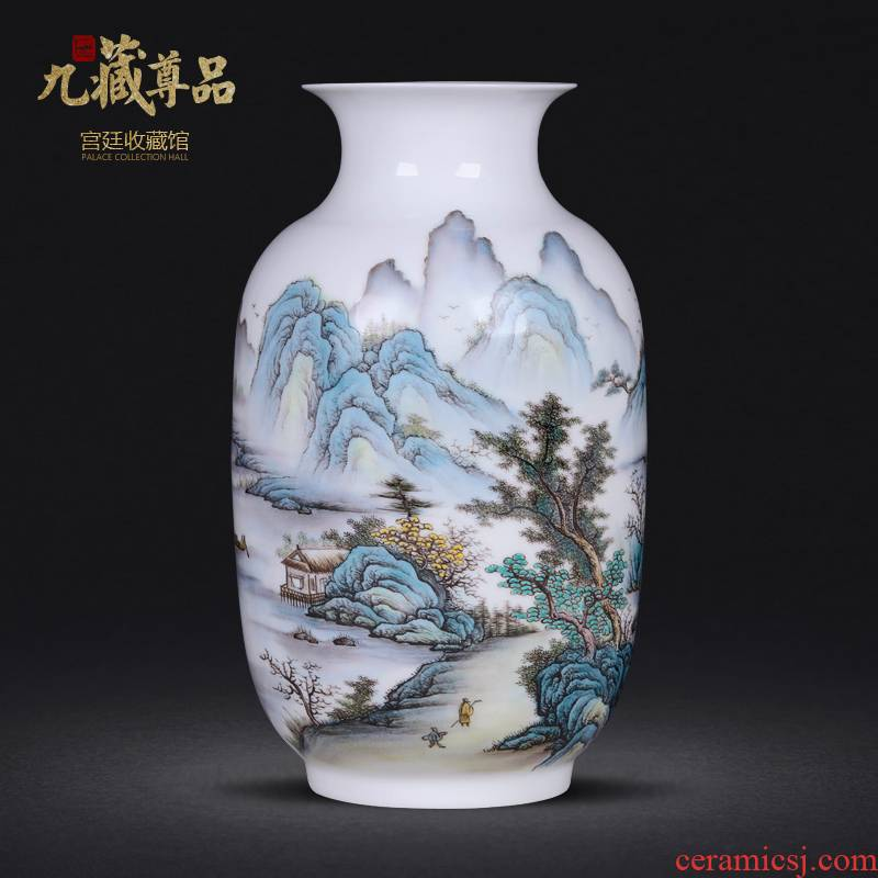 The Master of jingdezhen ceramics new Chinese style hand - made vases furnishing articles sitting room home wine ark, adornment handicraft arranging flowers