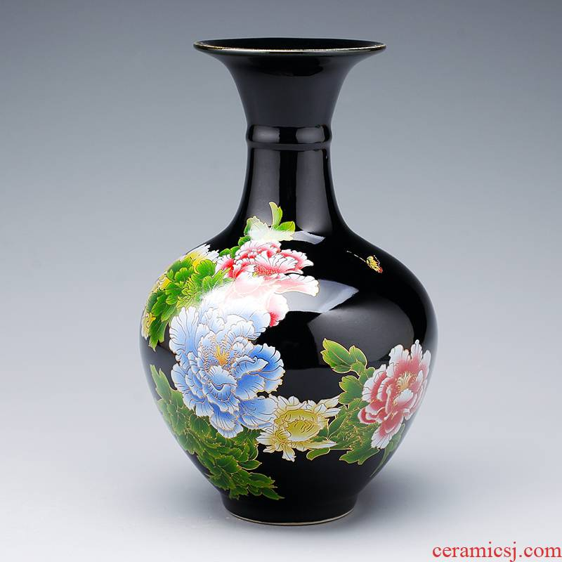 Porcelain of jingdezhen Porcelain floret bottle ceramic furnishing articles son sitting room flower arranging rich ancient frame wine appropriate home decoration
