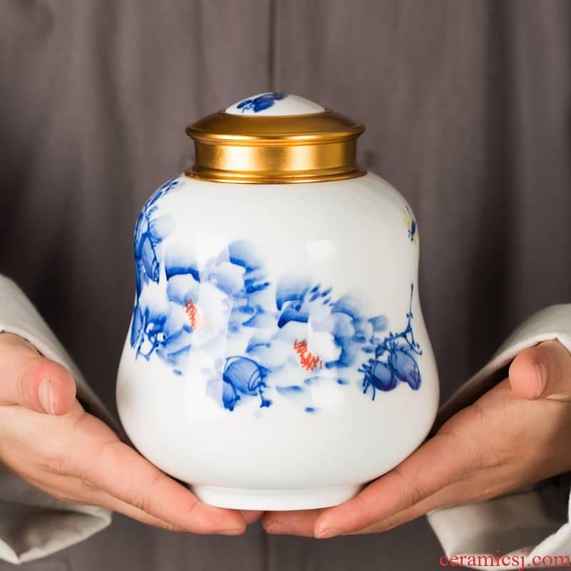 Jingdezhen ceramic tea storage POTS decoration furnishing articles home tea POTS sealed as cans POTS medium