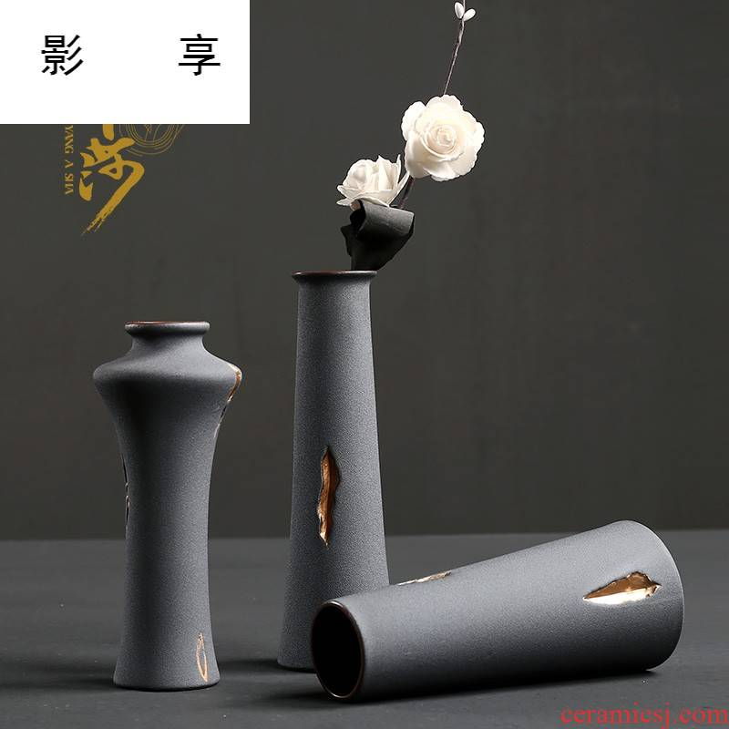 Shadow enjoy flower implement creative coarse pottery furnishing articles move fashion home decoration flower other hydroponics vase YAS
