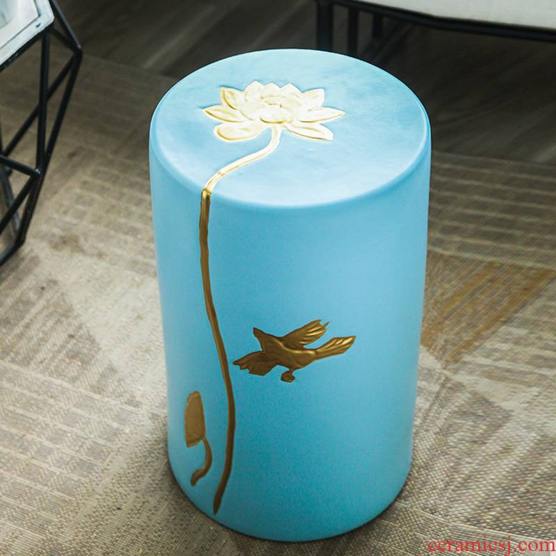 The New Chinese jingdezhen ceramic stools creative I and contracted sitting room ground furnishing articles in who embroidered pier summer cool shoes who