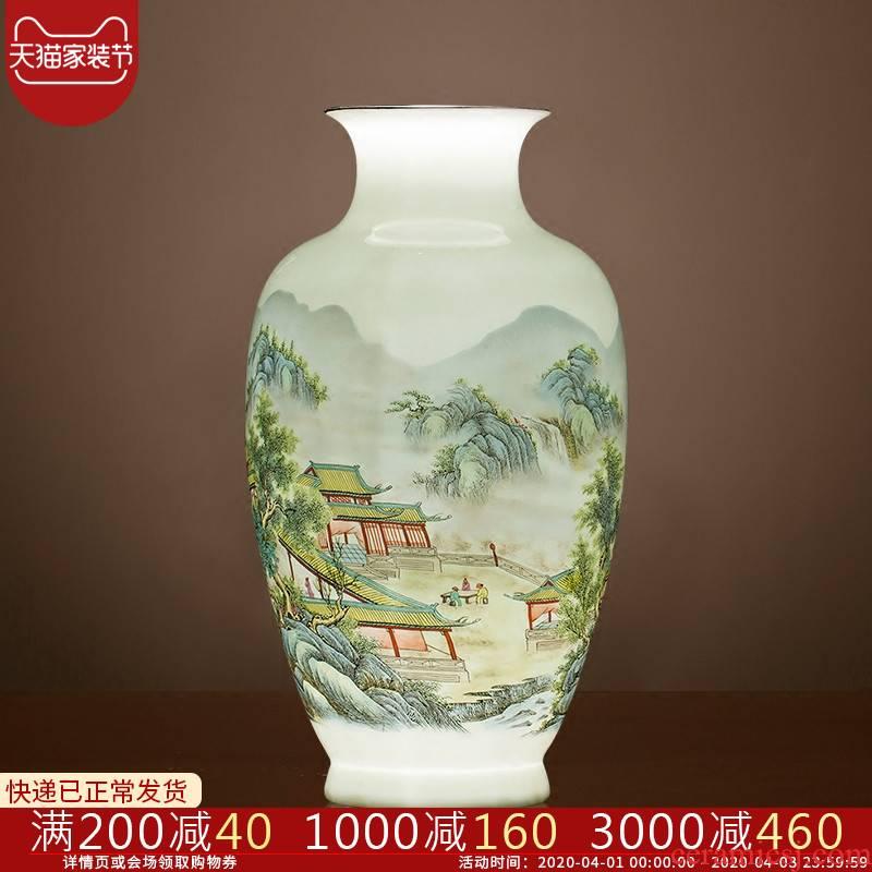 Jingdezhen ceramics vase landscape painting of flowers and flower arrangement sitting room place mesa home TV ark adornment ornament