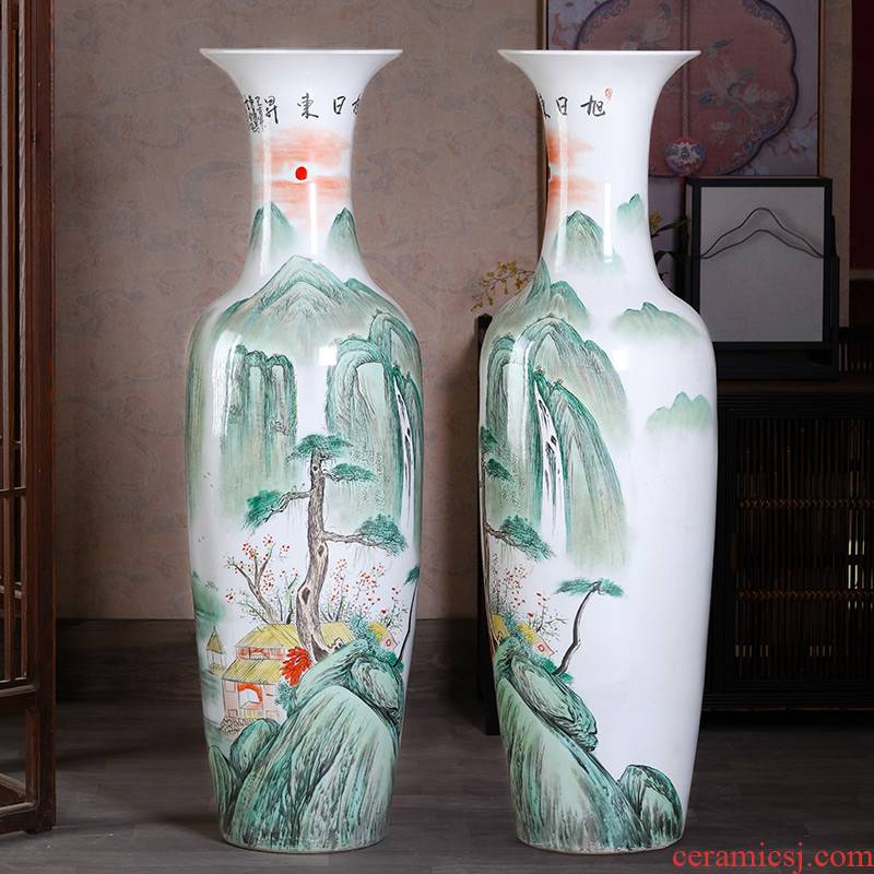 Jingdezhen ceramics hand - made landing big vase high TV ark, place of the sitting room porch large home decoration