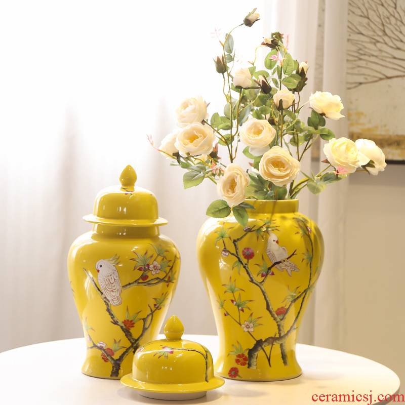 Jingdezhen ceramic vase simulation flowers, household adornment balcony office furnishing articles sitting room put a hydroponic flowers