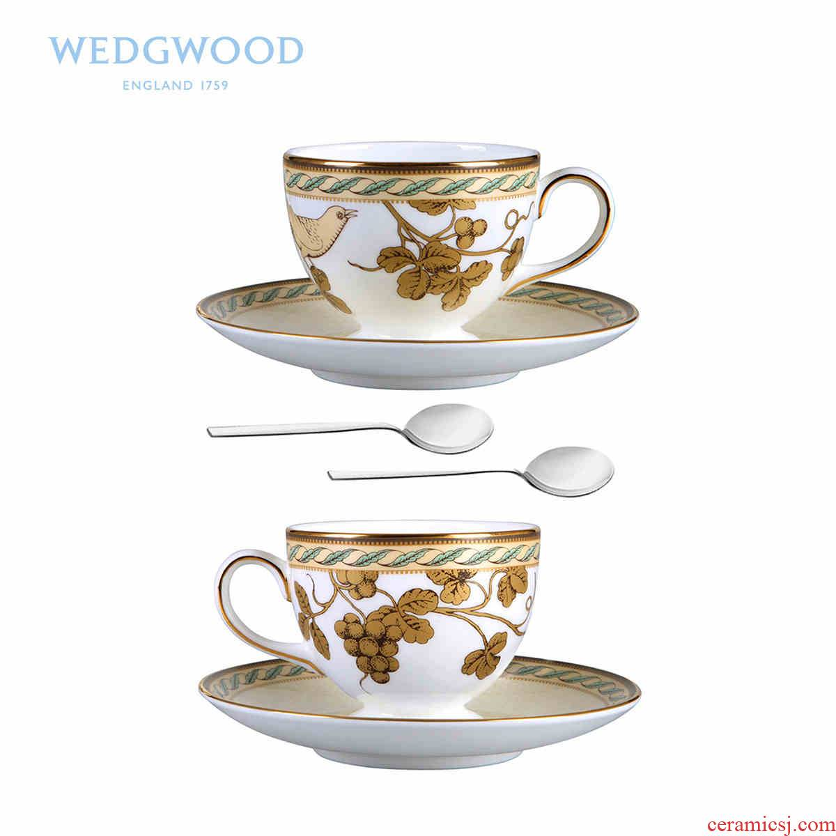 Wedgwood Golden Bird Golden Bird 2 cups disc 2 teaspoons of afternoon tea ipads China tea set gift boxes