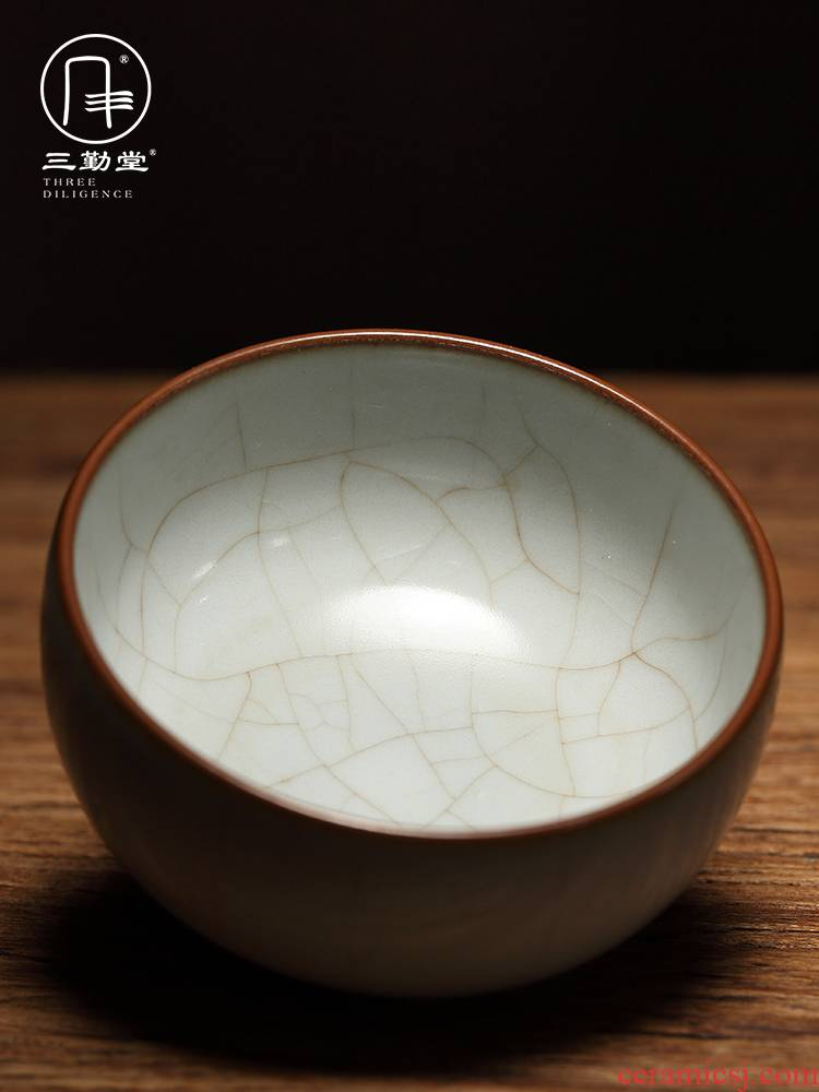 Three frequently hall your up ash glaze sample tea cup of jingdezhen ceramic cups kung fu tea set personal cup cup S44048 master