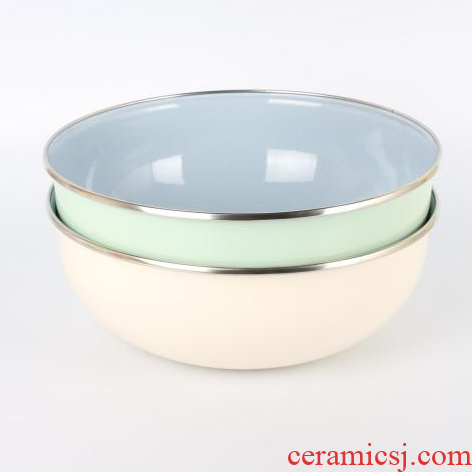 Export products thickening basin of enamel enamel rainbow such as bowl bowl bowl enamel mercifully soup bowl preservation bowl and basin 22 cm