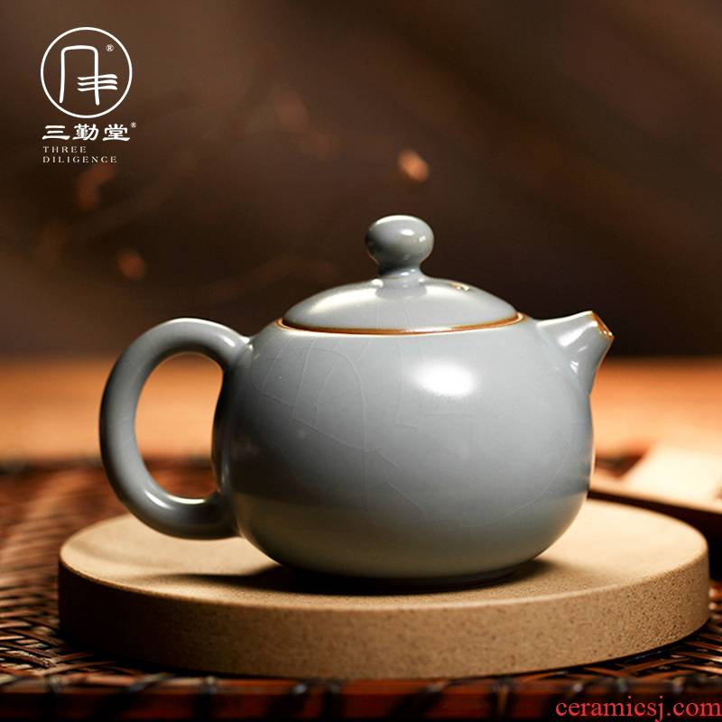 Three frequently hall your up with jingdezhen ceramic teapot kung fu tea teapot can open piece of filtering S24001 shih pot