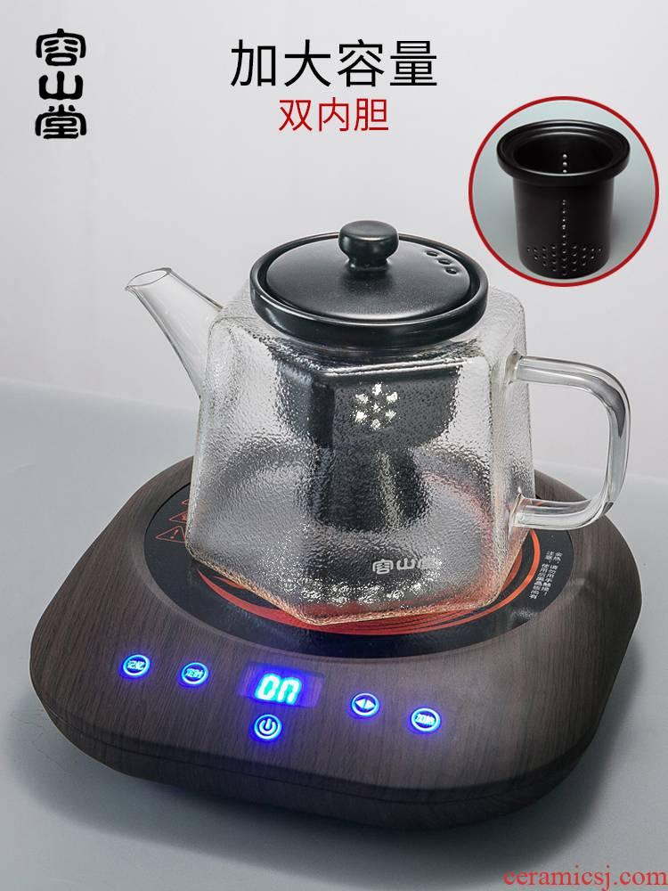 Ceramic glass tea steamer RongShan hall automatic electric TaoLu tea stove large steam boiling tea kettle, tea sets