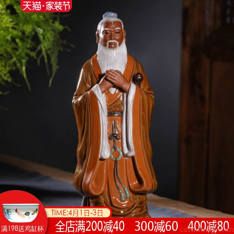 Ceramic like Confucius like statues sage Confucius furnishing articles prosperous career academic study sitting room adornment