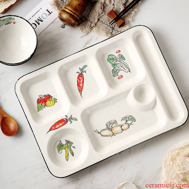Jingdezhen ceramic cent eat dish dish dish home creative snack plate frame segmentation dish one breakfast food tableware