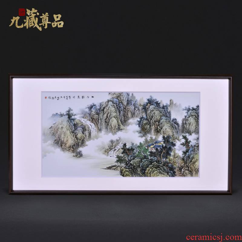 Jingdezhen ceramic dong - Ming li famous hand - made figure valley DE spring adornment porcelain plate paintings of Chinese style household decoration