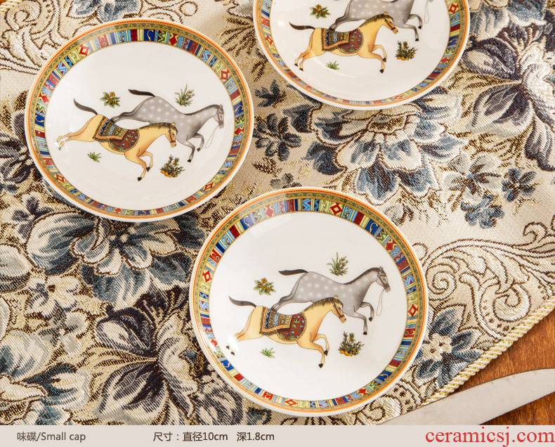 Western Europe type 60 head lead - free ipads porcelain of jingdezhen ceramics tableware high - end dishes suit household wedding gifts