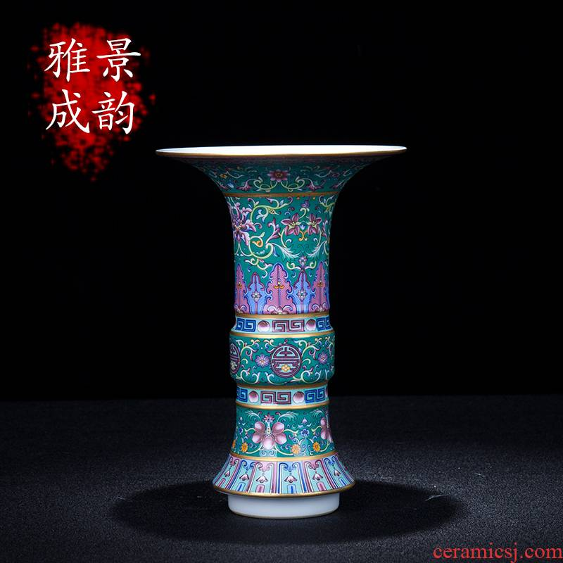 Jingdezhen ceramic new Chinese style, black mushroom decorates place to live in the sitting room porch porcelain enamel handicraft