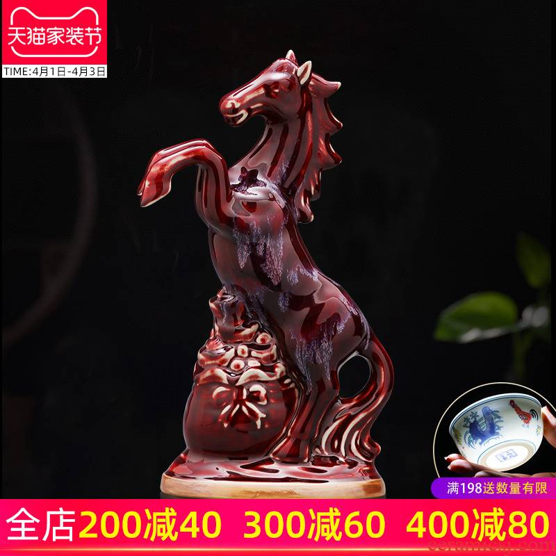 Furnishing articles jun porcelain of jingdezhen ceramics business needs of the sitting room TV ark, wine decorate household act the role ofing is tasted handicraft