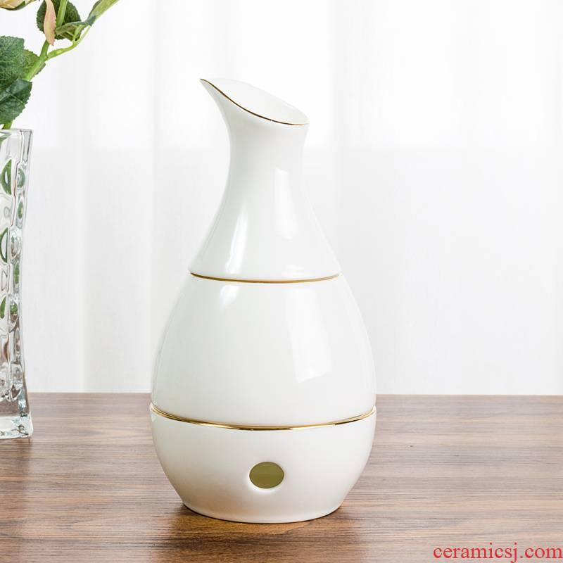 Wine temperature hot hip household ipads porcelain Chinese rice Wine Wine Wine Wine hot temperature Wine pot liquor suit ceramics