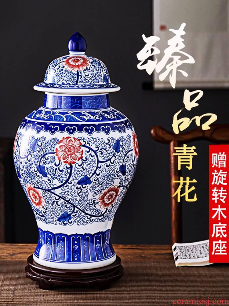 Antique porcelain of jingdezhen ceramics seal storage tank general tea pot sitting room place, home decoration