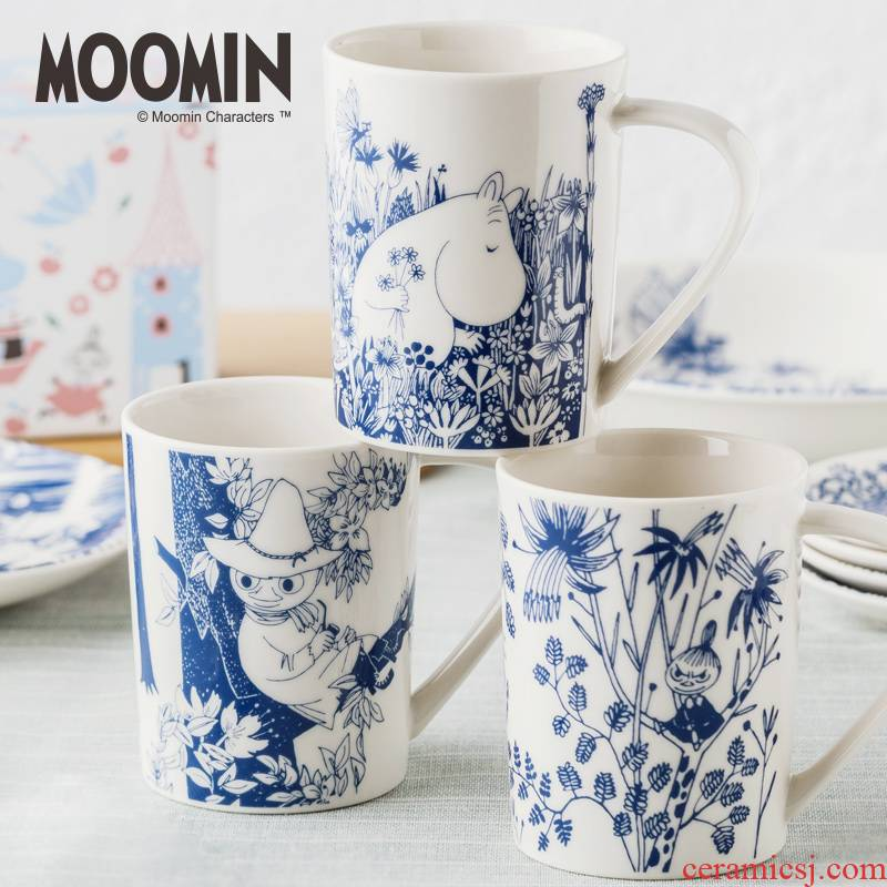 Imported from Japan cartoon cup Finland Moomin Moomin ceramic cup keller cup couples contracted ultimately responds cup