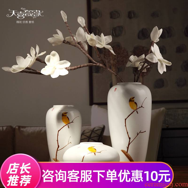 Modern new Chinese style ceramic vase is the sitting room of TV ark, wine porch desktop flower arranging household furnish furnishing articles