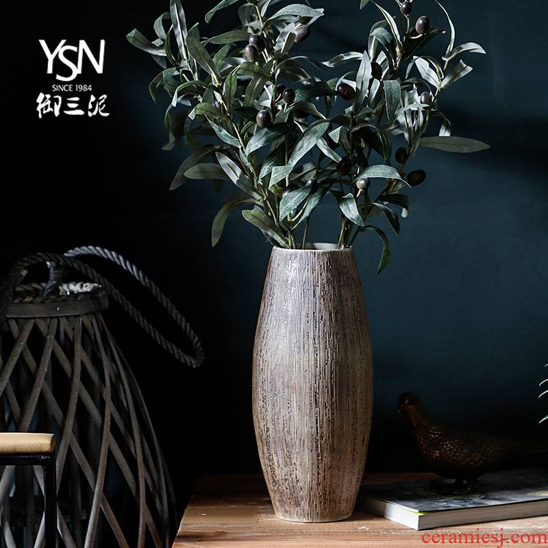 Ceramic flower implement Nordic ins floret bottle desktop dried flowers decorative furnishing articles sitting room new Chinese TV ark, bottle arranging flowers
