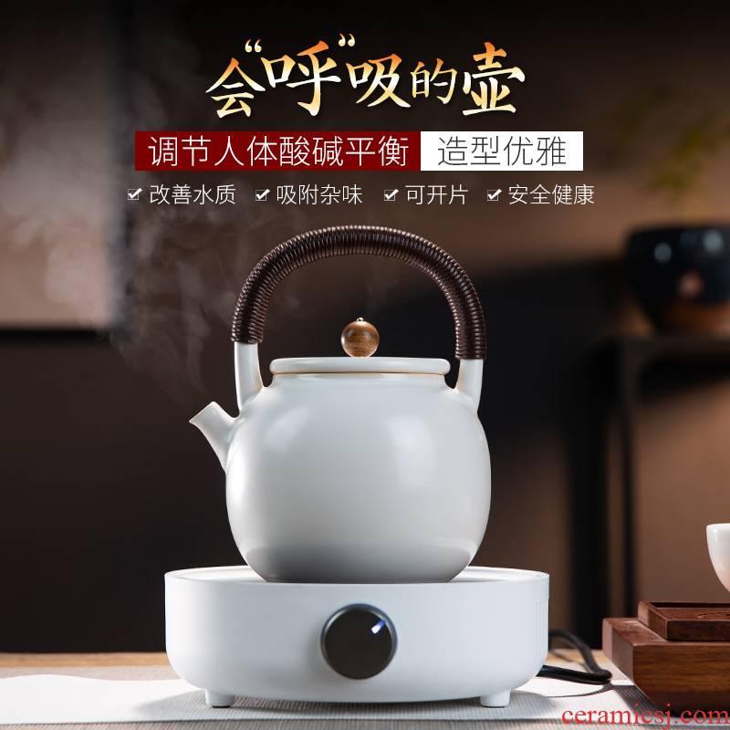 Electric ceramic POTS make tea tea stove kettle specialized ceramic POTS soda glaze the slice cooked this teapot set tea tea