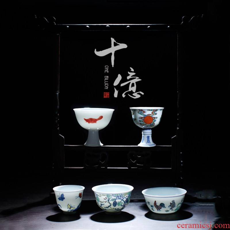 "Better sealed up with jingdezhen kung fu tea set hand - made ceramic cups ""pull in"" chicken cylinder cup package box"