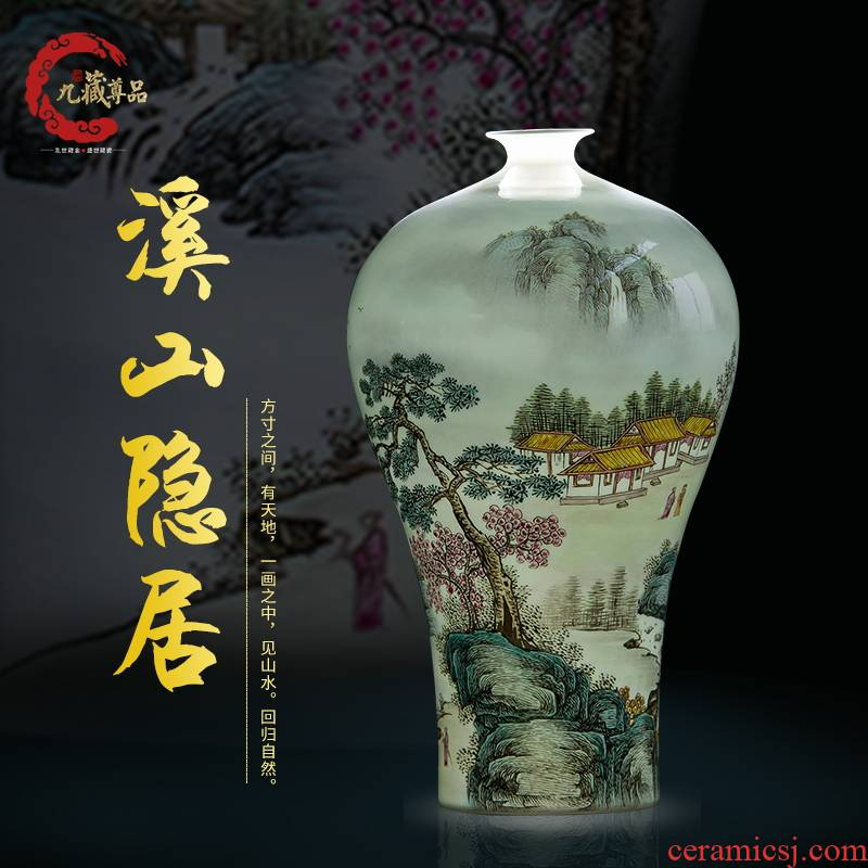 The Master of jingdezhen ceramics new Chinese style hand - made vases furnishing articles marriage room sitting room porch household decoration decoration