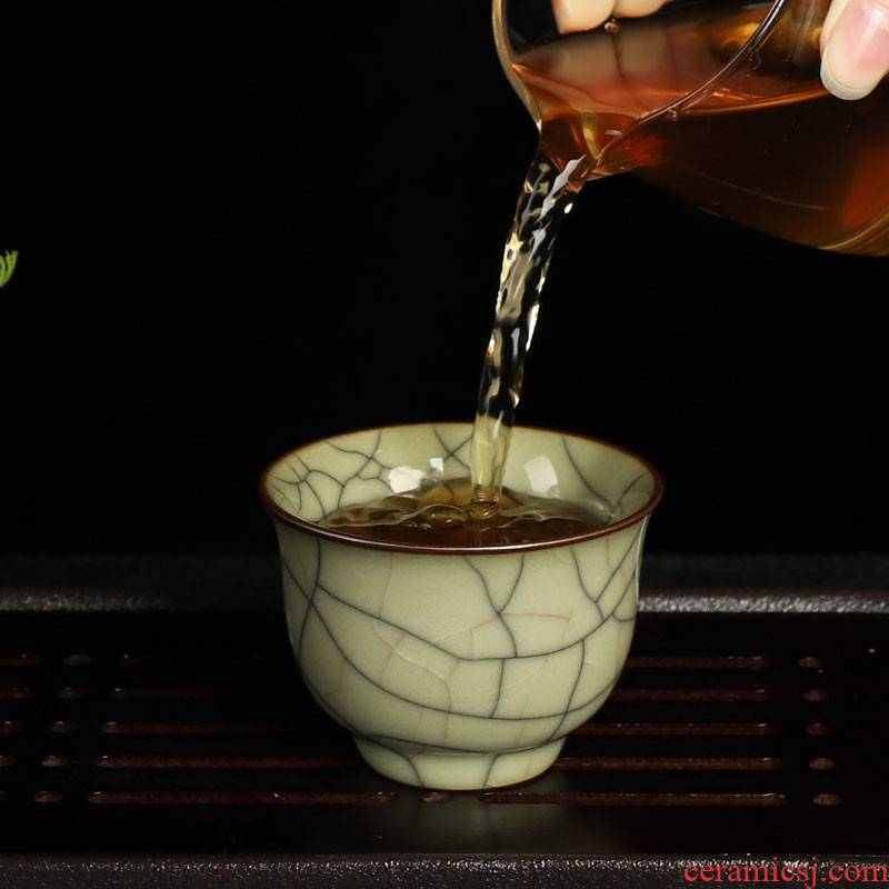 QY elder brother up market metrix who sample tea cup together scene celadon bowl single cup size small kung fu tea cups