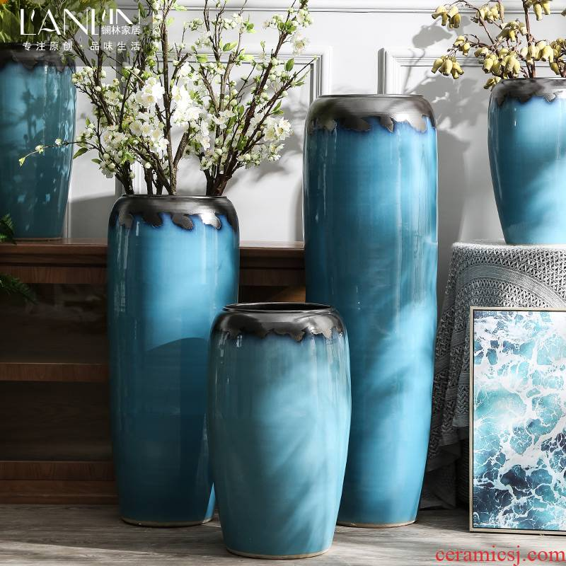 Mediterranean Nordic contracted ceramic vase landing a large sitting room adornment flower arranging dried flowers furnishing articles villa decoration