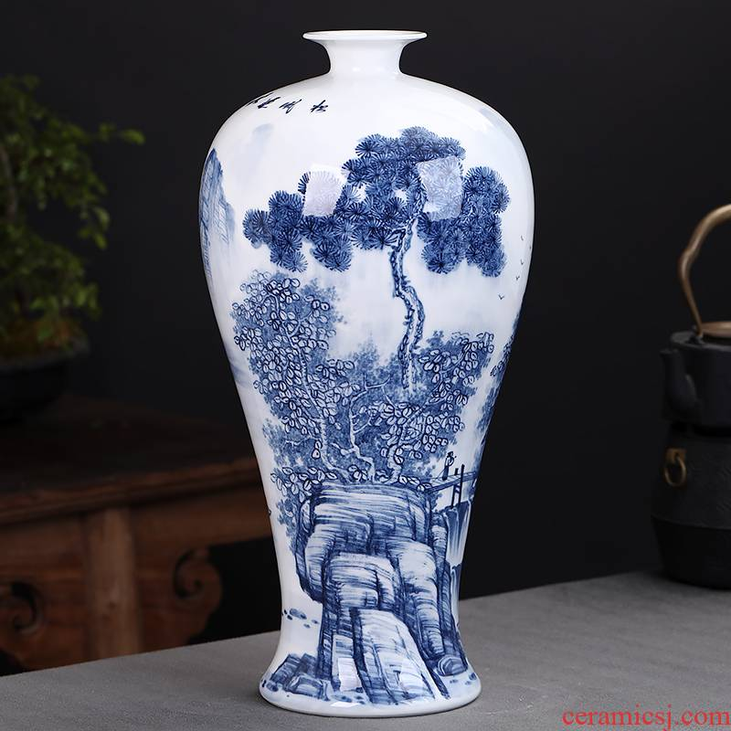 The Master of jingdezhen ceramics hand - made antique Chinese blue and white porcelain vases, flower arrangement sitting room home furnishing articles
