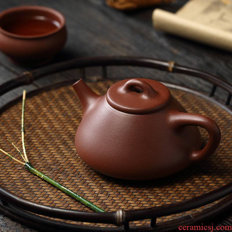 Liu2 xing producer are it undressed ore low cloud cloud 】 【 slot the qing son classic stone gourd ladle manual tea kettle
