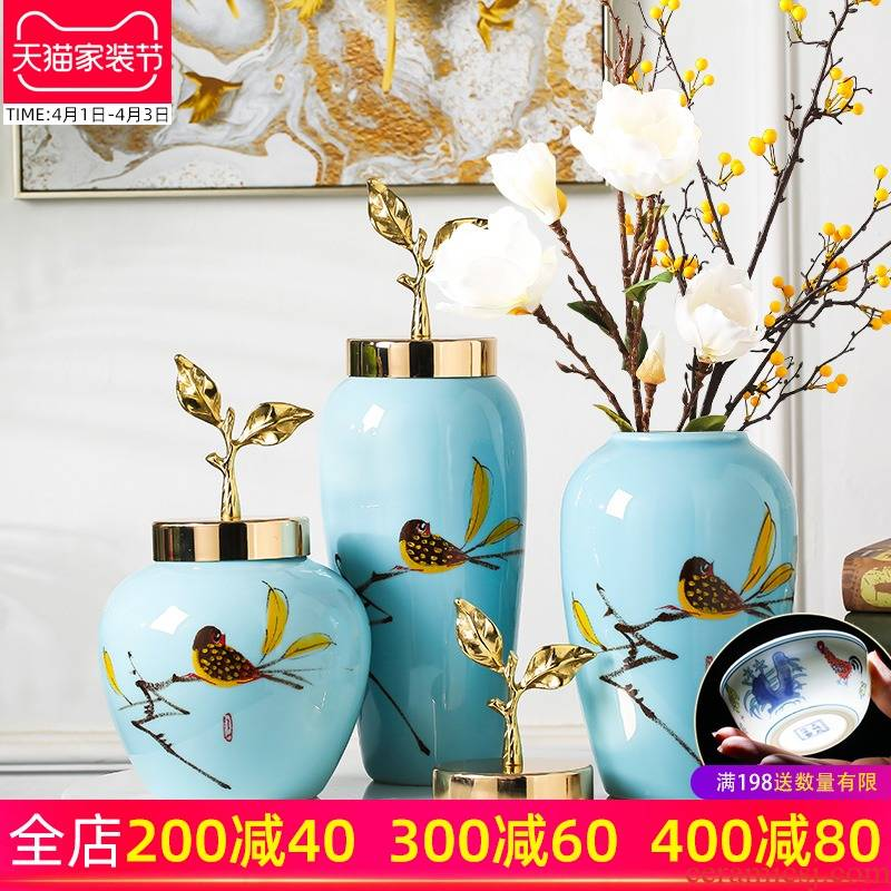 Jingdezhen ceramic vase new Chinese I home furnishing articles dried flower arranging flowers sitting room TV cabinet table decorations
