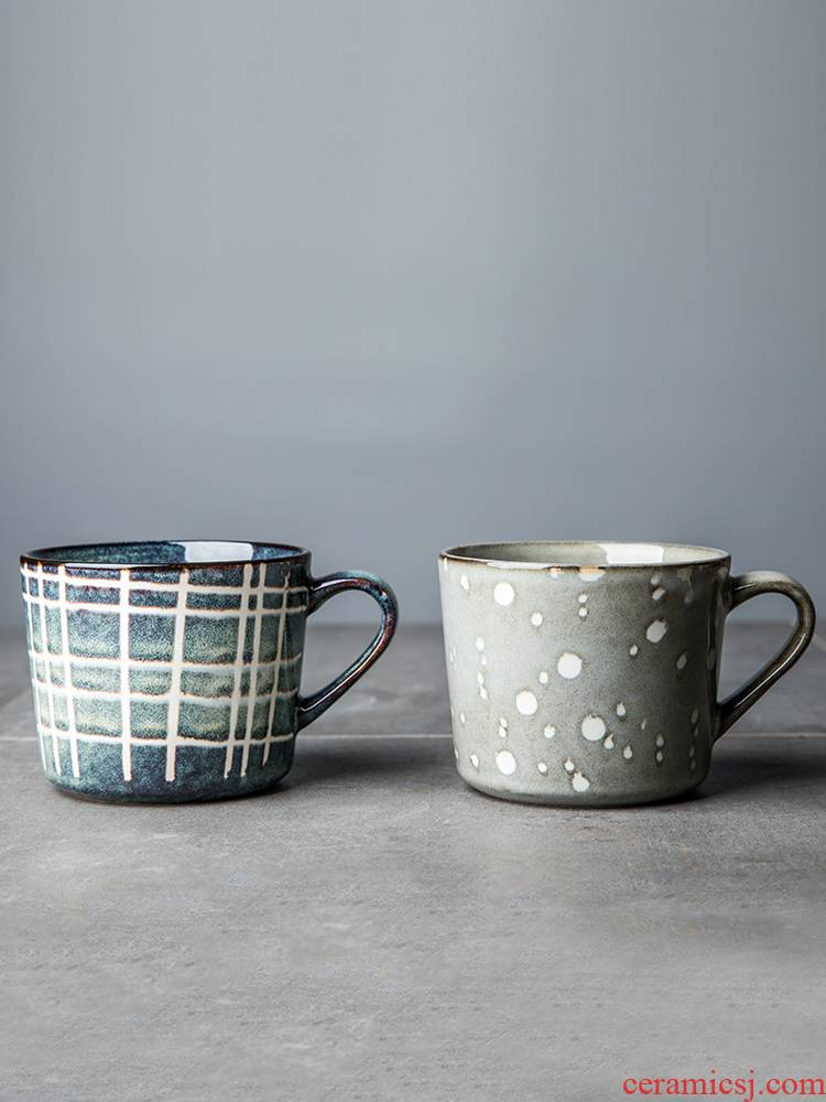 Creative picking keller a pair of household ceramic cup for cup suit Europe type restoring ancient ways exposure glass coffee cup